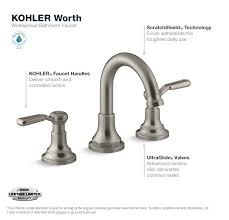 kohler worth 8 in widespread 2 handle bathroom faucet in vibrant