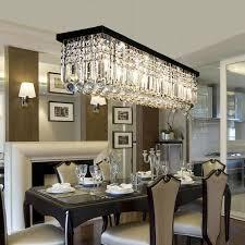 Dining Room Rectangular Crystal Chandelier
