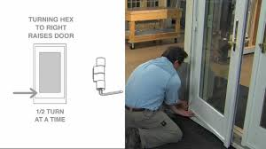 French Patio Doors Inswing Vs Outswing by How To Adjust A Frenchwood Outswing Patio Door Youtube