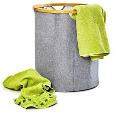 bambuswald faltbarer wäschekorb mit ring aus ökologischen bambus wäschesortierer wäschebehälter wäschetruhe wäschesack wäschebox badezimmer truhe