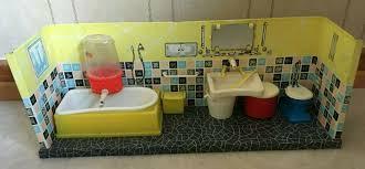 puppenhaus badezimmer vintage 50er 60er jahre