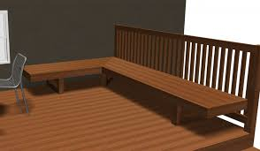 wood deck bench designs deck bench plans free howtospecialist how