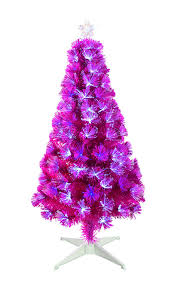 Small Fibre Optic Christmas Trees Uk by Vibrant Pink Fibre Optic Christmas Tree With White Led Lights 4 Ft