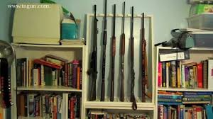 Diy Hidden Gun Cabinet Plans by Diy Rifle Rack For Under 20 Youtube