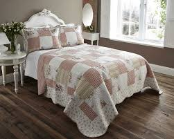 Bed Cover Sets by Lightweight Country Cottage Printed Bed Cover Throw Set Double