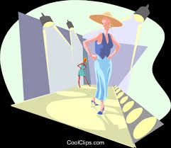 Fashion Runway Royalty Free Vector Clip Art Illustration