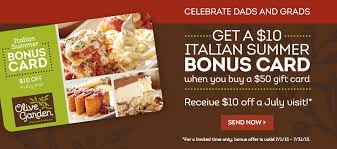 Special deals at olive garden Ae coupons