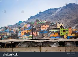 100 Houses For Sale In Lima Peru Hills Thrown Painted Stock Photo Edit Now