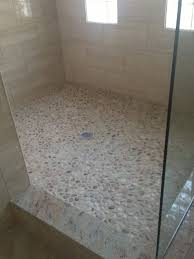 Sliced Pebble Tile Canada by Tiling Shower Floor Houses Flooring Picture Ideas Blogule