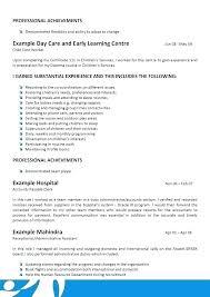 Daycare Resume Objective Samples Childcare Objectives Download Child Care Provider Sample