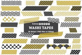 Halloween Washi Tape Australia by Gold U0026 Black Washi Tape Strips Web Elements Creative Market