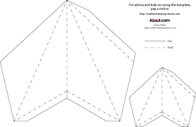Template For Paper 3D Star Either Print Trace Cut And Fold OR