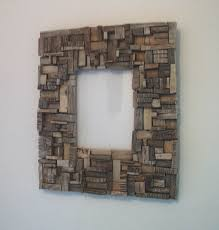 cadre mosaïque n 1 au fil de l eau bois flotté