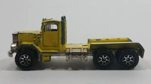 1995+ Hot Wheels Peterbilt Dump Truck Semi Rig Yellow Die Cast Toy ...