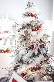75 Slim Flocked Christmas Tree by Best 25 White Christmas Trees Ideas On Pinterest White