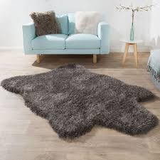 fellteppich kunstfell teppich grau home fellteppich