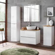 badezimmer unterschrank mit wäschekorb toskana 56 in weiß hochglanz b h t ca 35 80 35cm