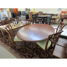 Ethan Allen Dining Room Table Leaf by Set Ethan Allen Round Drop Leaf Table W 4 Chippendale Chairs