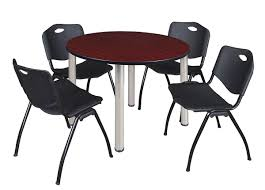 Black Kee 48 Round Breakroom Table Mahogany/ Chrome & 4 M ... Normann Cophagen Form Chair White Chrome Red And Black Modern Unique Design Stainless Steel Metal Commercial Outdoor Fniture Buy Fniturecommercial Fnitureoutdoor Table 4 Chairs Melltorp Leifarne Marble Effect Chromeplated Amazoncom New Patio Garden Set Of Kitchen Alinium Bistro Table Chairsalinium Lweight 17_010blackbelostylespaghettiairschroframe Three Chairs On Stock Photos Staggering Contemporary Berries Plastic Chair 6 Color Orange Fourteen Suede Chrome On 20th Ding