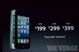 iPhone 5 pricing and availability