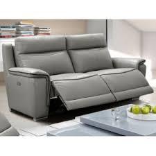 canapé cuir gris anthracite marque generique canapé 3 places relax électrique paosa en cuir