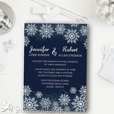 Navy Blue Snowflake Winter Wedding Invitations IWI345