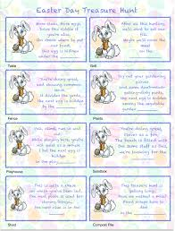 Halloween Scavenger Hunt Riddles by Free Printables Easter Egg Treasure Hunt 24 Mix U0026 Match Clue