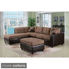 Chocolate Corduroy Sectional Sofa by Connell Corduroy Espresso Sectional Sofa Free Shipping Today