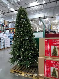 9 Ft Led Christmas Tree Absolutely Design Foot Lit With Lights Flocked Trees