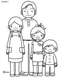 My Family Coloring Page Pages Ideas