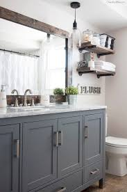Best Paint Color For Bathroom Cabinets by Best 25 Gray Vanity Ideas On Pinterest Farmhouse Kids Mirrors