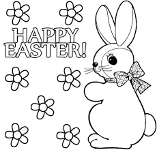 Easter Printable Coloring Pages Toddlers Happy Print Printouts Worksheets Large Size