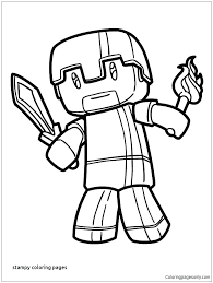 Stampy Coloring Pages Books Fee Download Cat