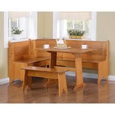 dorel home breakfast nook 3 piece corner dining set honey