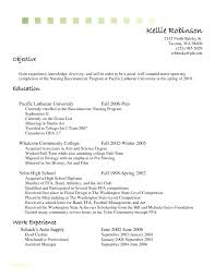 Resume Cashier No Experience Registered Nurse Template And Example Job Sample Cover Retail Jobs Letter