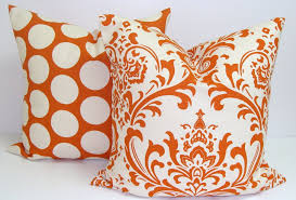 Stunning Orange Decorative Pillows