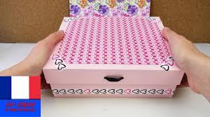 boîte de rangement pour cosmétiques ou charmante boîte