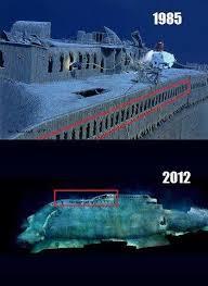 titanic wreck 1985 and 2012 titanic wreck pinterest titanic