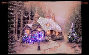 Thomas Kinkade Christmas Tree Uk by Thomas Kinkade Winter Woodland Cottage Illuminated Hanging