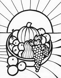 Colouring Pages Fruit Basket