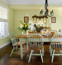 white country dining room sturdy brown varnished teak wooden