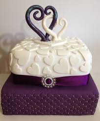 Cadbury Purple & White Wedding Cake on Cake Central