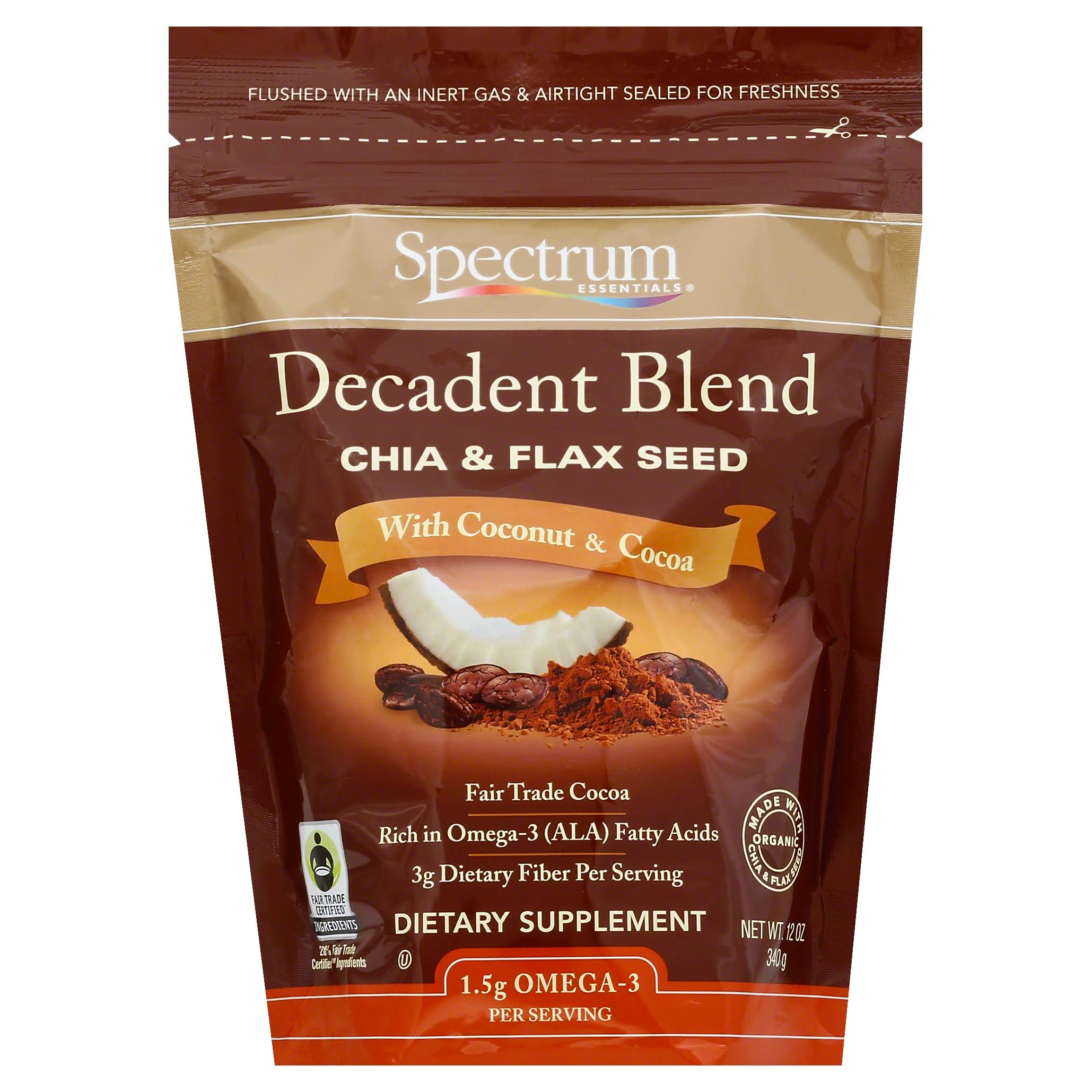 Spectrum Essential Cocoa and Coconut Chia and Flax Seed Decadent Blend - 12oz
