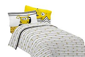 Spongebob Bathroom Decor Walmart by Nickelodeon U0027s Spongebob Try Angle Sheet Set Walmart Com
