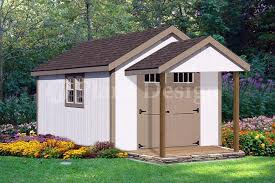 16 x 12 cabin shed covered porch plans plueprint p61612 free
