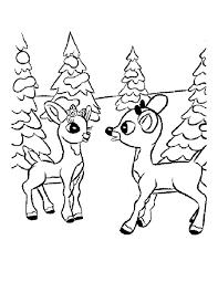 Christmas Reindeer Coloring Page 4