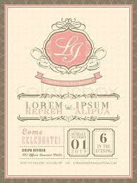 Vintage Pastel Wedding Invitation Card Background Template Vector Illustration