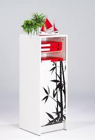 classeur a rideau pas cher classeur à rideau design blanc bambou meuble de rangement bureau