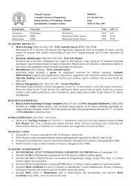 Engineering Student Sample Resume