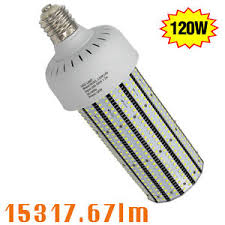 347v 480v 120w led corn bulb replace 400w parking lot pole light